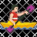 Kayaking Boat Canoe Icon