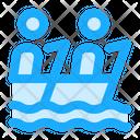 Kayaking Rafting Canoe Icon