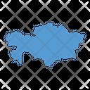 Kazakhstan Map Icon