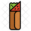 Kebab Meat Roll Icon