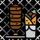 Kebab Food Roll Icon
