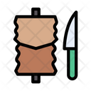 Kebab Barbecue Knife Icon