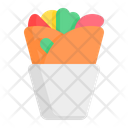 Kebab Burrito Shawarma Icon