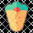 Kebab Tortilla Fast Food Icon