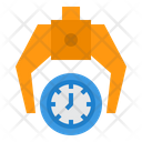 Time Management Keep Robotic Arm Icon