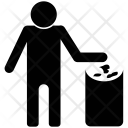 Keep Clean Dustbin Icon
