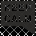 Message Keep Calm Icon