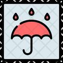 Keep Dry Umbrella Fragile Icon