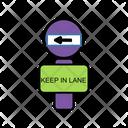 Keep Left Board Icon