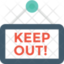 Keep Out Hanging Icon