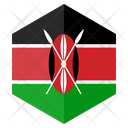 Kenya Flag Hexagon Icon