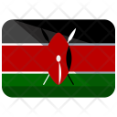 Kenya Flag Country Icon