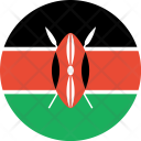 Kenya Flag World Icon