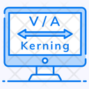 Kerning Typography Letter Spacing Icon