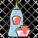 Ketchup Mayonnaise Sauce Icon