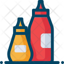 Ketchup Condiments Mustard Icon