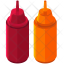 Ketchup Mustard Bottle Icon