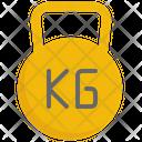 Kilogram Fitness Gym Icon