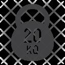 Kettlebell Fitness Sport Icon