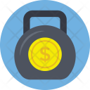 Kettlebell Currency Dollar Icon