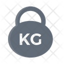 Kg Weight Gym Icon