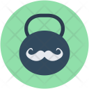 Kettlebell Ball Moustache Icon