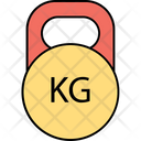 Kettlebell Exercise Fitness Icon