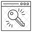 Key Lock Internet Icon