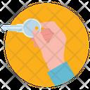 Key Unlocking Handheld Tool Icon