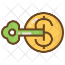 Key Money Shopping Icon