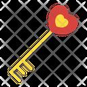 Love Key Love Lock Heart Key Icon