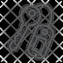 Key Close Safety Icon