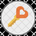 Heart Key Lock Icon