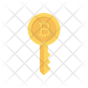 Key Bitcoin Cryptocurrency Icon