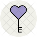Key Heart To Icon