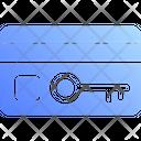 Key Card Swipe Card Hotel Icon