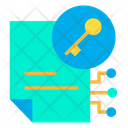 Key File Document Icon