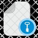 Key Password Doc Icon