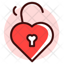 Heart Unlock Key Icon