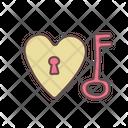 Key Of Heart Icon