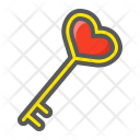 Key Shape Heart Icon