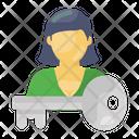 Key Person Key Employee Key Individual Icon