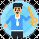 Key Man Key Person Business Key Icon