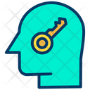 Key Person Key Head Human Mind Icon
