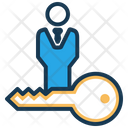 Key Player Product Owner Scrum Master Icon