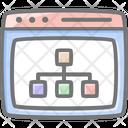 Key Search Web Hierarchy Icon