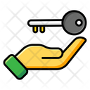 Hand Key Solution Symbol Idea Access Icon