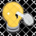 Key Solution Idea Creative Solution Icon