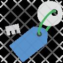 Key Tag Lock Icon