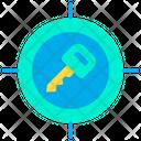 Key Target Safety Target Security Icon